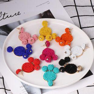 Womens Geometric Beads Earrings JJ190505120233's discount tags