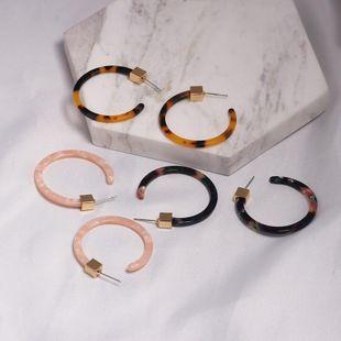 Womens C-shaped plastic / resin Earrings JJ190505120235's discount tags