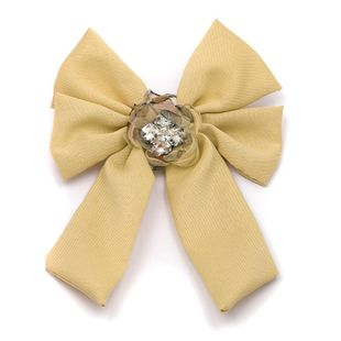 Womens bow and rhinestone mixed material Bow Brooches JJ190505120237's discount tags