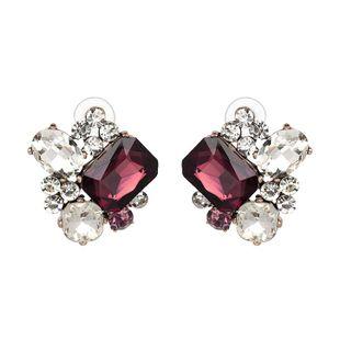 Womens Geometric  Retro glass drill series geometry  Earrings JJ190505120239's discount tags