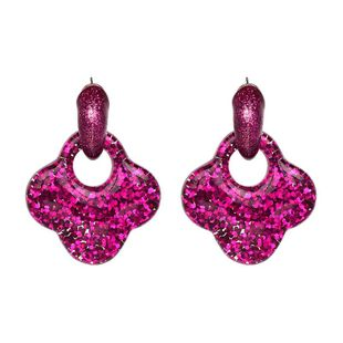 Womens  Simple and stylish Leaf Plastic / Resin Earrings JJ190505120241's discount tags