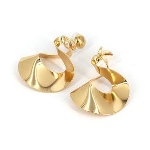 Womens Geometric  Irregularly twisted Metal Earrings JJ190505120242's discount tags