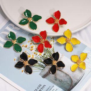 Womens Flower Dropper Alloy Earrings JJ190505120243's discount tags