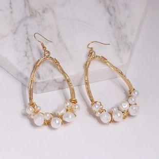 Womens teardrop-shaped beads alloy Earrings JJ190505120244's discount tags