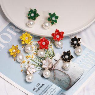 Womens Flower Flower alloy simple  Dropper Alloy Earrings JJ190505120245's discount tags