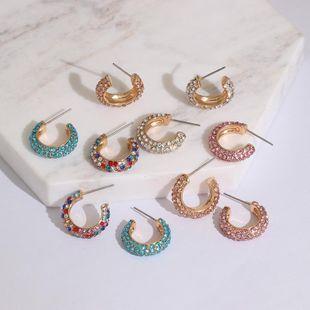 Womens Geometric Rhinestone Alloy Earrings JJ190505120246's discount tags