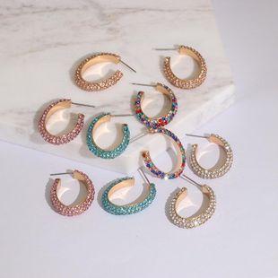 Womens Geometric Rhinestone Alloy Earrings JJ190505120248's discount tags
