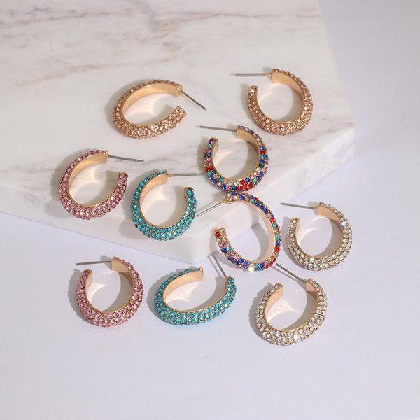 Womens Geometric Rhinestone Alloy Earrings JJ190505120248