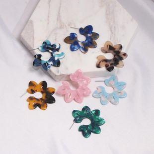 Womens Sun Flower Plastic / Resin Earrings JJ190505120249's discount tags