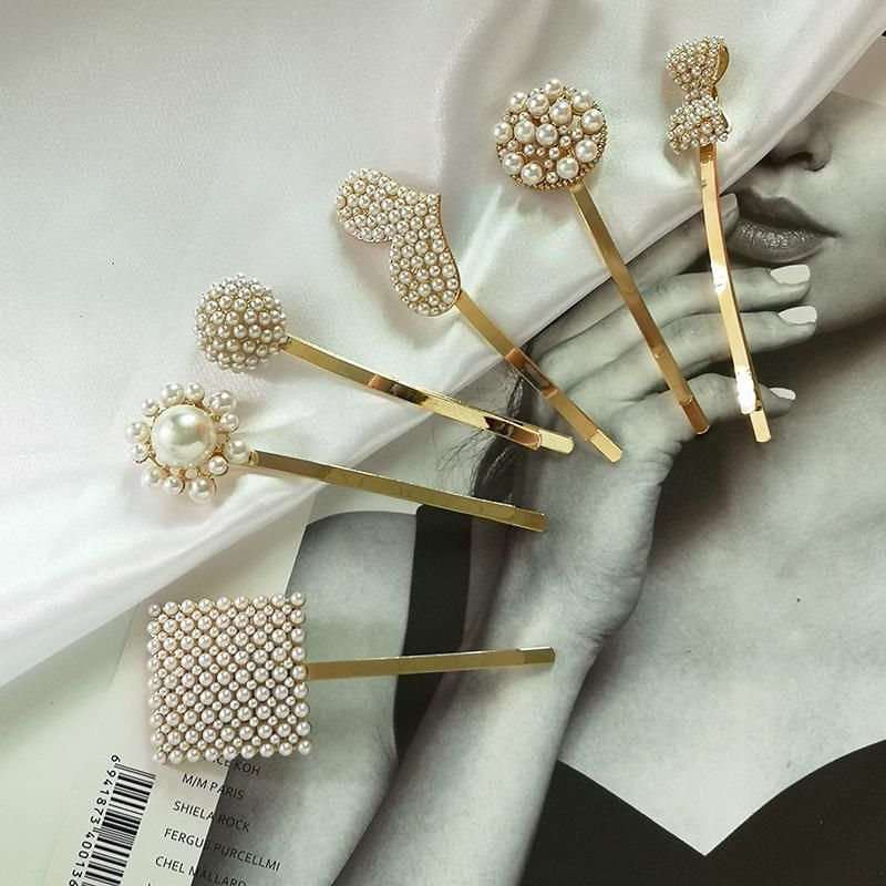 Womens Geometric Beads Beads Hair Accessories JJ190505120250