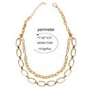 Womens Ushaped plated aluminum Necklaces CT190505120146