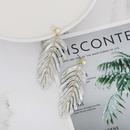 Womens Leaf Retro light luxury Plastic  Resin  Earrings JJ190505120200