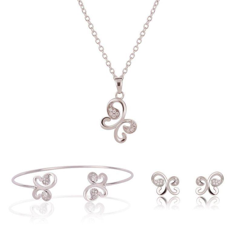 Womens rhinestonestudded alloy Jewelry Set XS190506120375