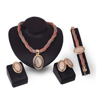 Womens rhinestone-studded alloy Jewelry Set XS190506120376's discount tags