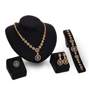Womens rhinestone-studded alloy Jewelry Set XS190506120377's discount tags
