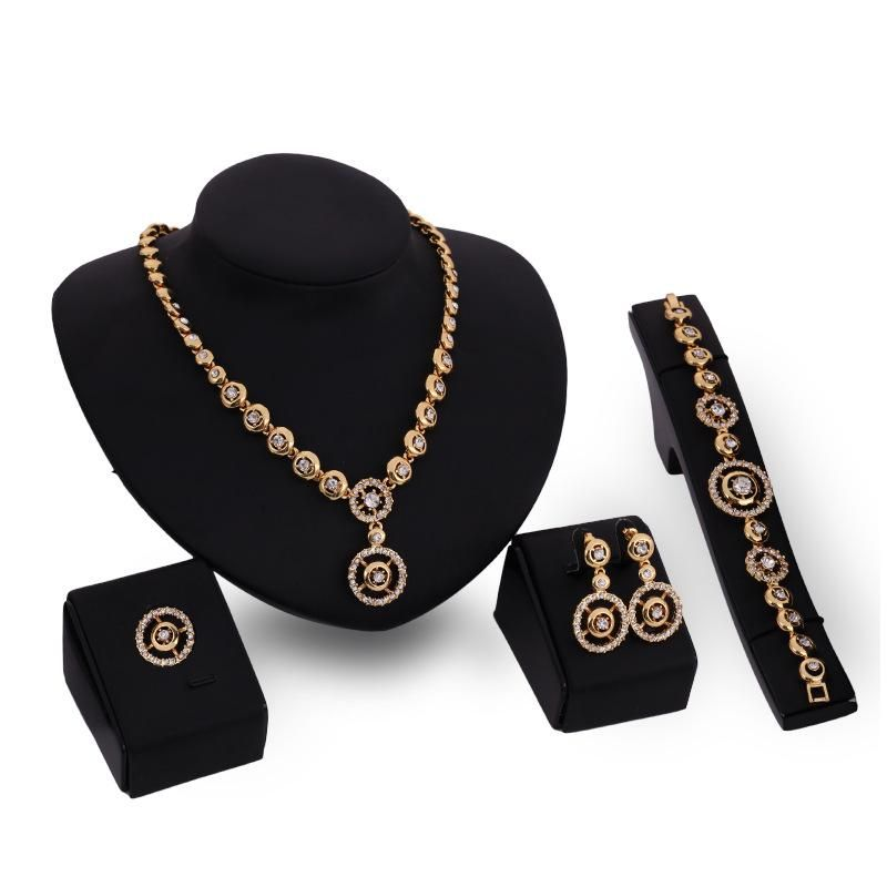 Womens rhinestonestudded alloy Jewelry Set XS190506120377