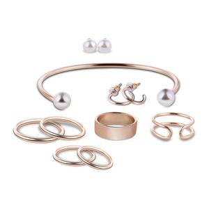 Womens rhinestone alloy Fashion jewelry set XS190506120381's discount tags