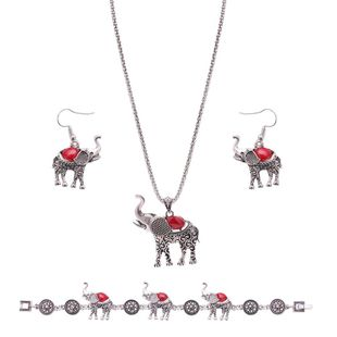 Womens electroplated alloy Turquoise Elephant Jewelry Set XS190506120393's discount tags