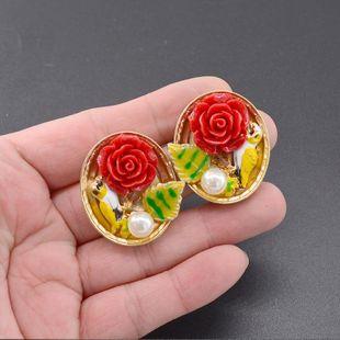 Vintage small flower earrings niche design earrings NT190506120404's discount tags