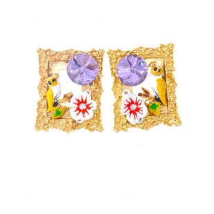 Womens Insect Plating Alloy Earrings NT190506120405's discount tags