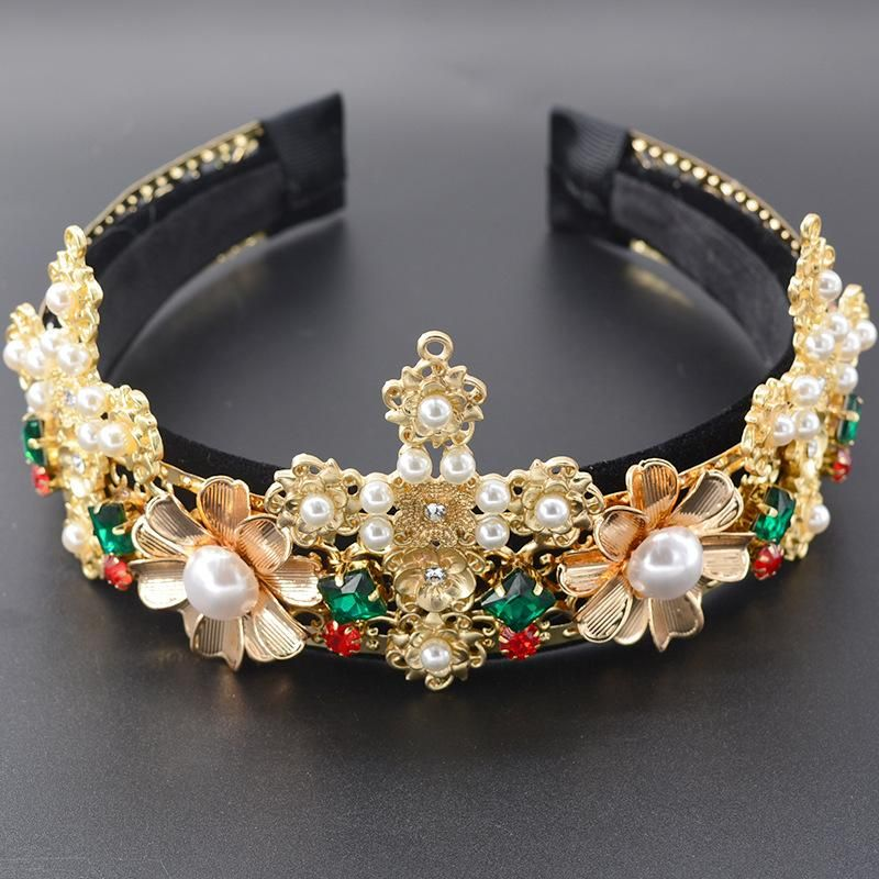Womens Crown Plating Alloy Hair Accessories NT190506120410