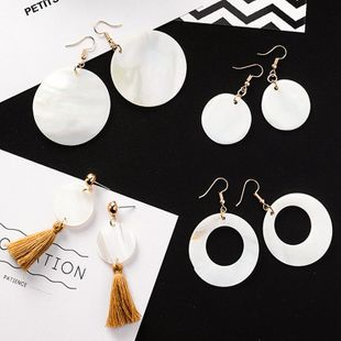 Womens Geometry Big circle tassel  Electroplating Alloy Earrings MS190506120419's discount tags