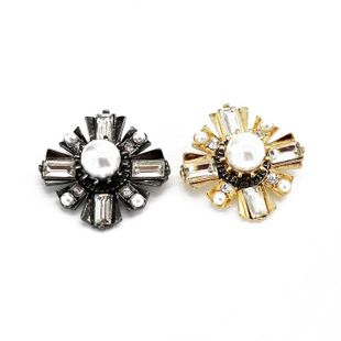 Womens Fashion flower gems Brooches OM190506120421's discount tags