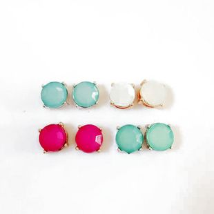 Womens Electroplating Three-dimensional cut surface  Alloy Earrings OM190506120426's discount tags