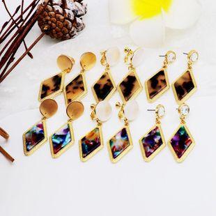 Womens Wafer matt alloy resin Earrings OM190506120428's discount tags