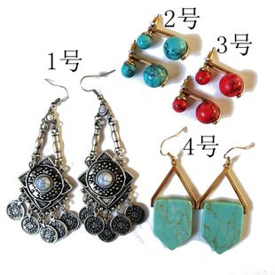 Womens Electroplating Alloy Earrings OM190506120430's discount tags