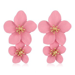 Womens Floral Plating Multicolor flowers  Alloy Earrings VA190506120450's discount tags