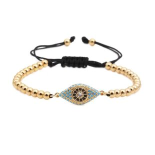 Unisex geometry  Color zirconium eye bead weaving titanium steel Bracelets & Bangles YL190506120476's discount tags