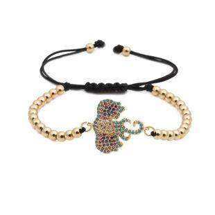 Unisex Animal Elephant bead weaving  Zodiac Titanium Steel Bracelets & Bangles YL190506120477's discount tags