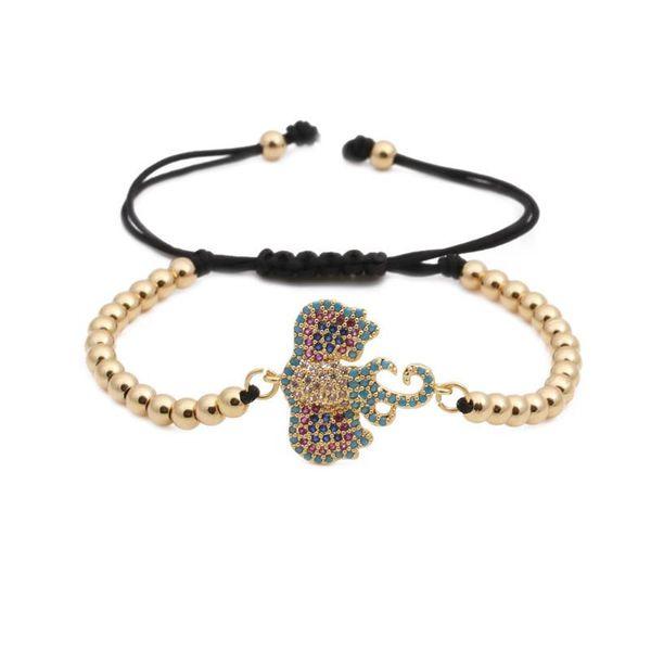 Unisex Animal Elephant bead weaving  Zodiac Titanium Steel Bracelets & Bangles YL190506120477