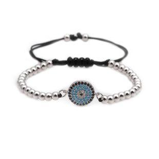 Fashion Unisex  Copper bead weaving Eye Titanium Steel Bracelets & Bangles YL190506120480's discount tags