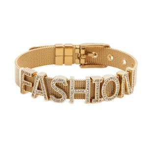 Unisex letters numbers text titanium steel Bracelets & Bangles YL190506120496's discount tags