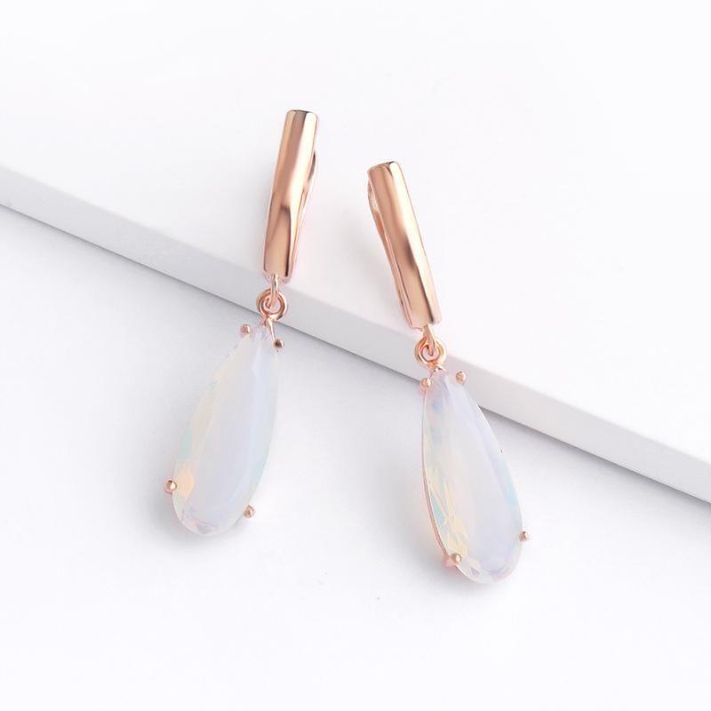 Womens teardrop electroplated alloy ocesrio Earrings NHAS120508
