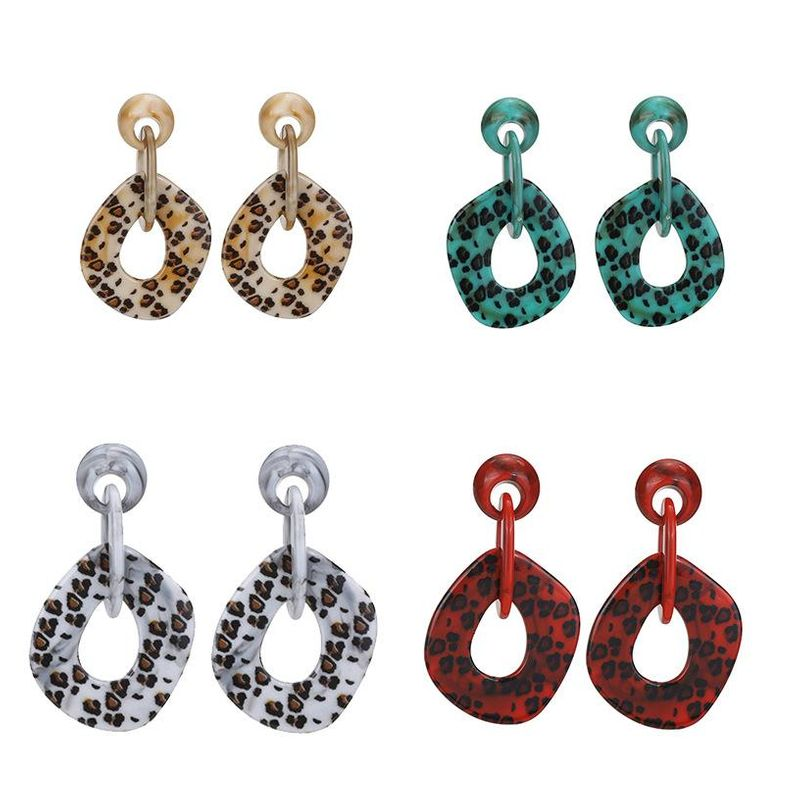 Womens Geometric Fashion Plastic Resin Earrings NHLL120612