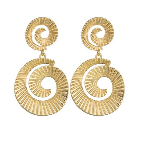 Womens Spiral Electroplating Alloy Earrings NHBQ120664's discount tags