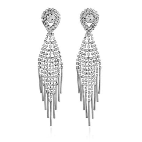 Womens Geometry Electroplating Exaggerated tassel  Alloy Earrings NHKQ120667's discount tags