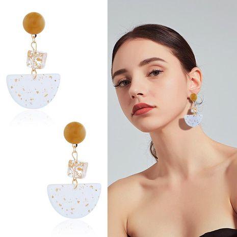 Womens Geometric Plastic semicircle Resin Earrings NHKQ120671's discount tags