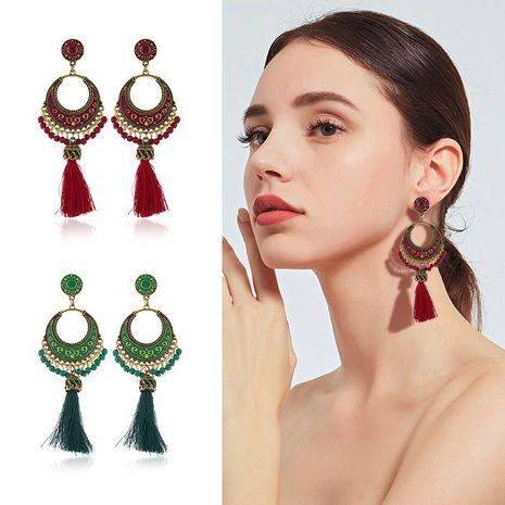 Womens Geometric Drop Oil Alloy tassel Earrings NHKQ120672's discount tags