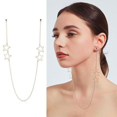 Womens Floral Plating Metal Earrings NHKQ120679's discount tags