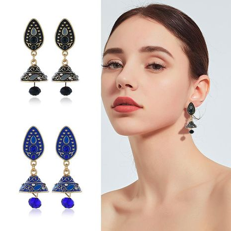 Womens Floral Rhinestone Alloy Earrings NHKQ120683's discount tags