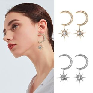 Womens Star Rhinestone Alloy Earrings NHKQ120692's discount tags