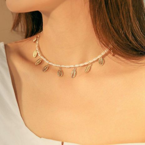 Womens other electroplated alloy Necklaces NHMD120708's discount tags