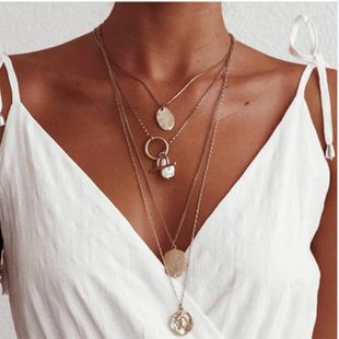 Womens Other Plating Alloy Imitation Beads Necklaces NHMD120725's discount tags