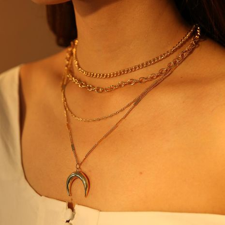 Womens geometric plating alloy Necklaces NHMD120733's discount tags