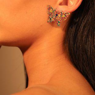 Womens Animal Zodiac Alloy Imitation Rhinestone Earrings NHMD120732's discount tags