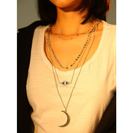 Womens geometric plating alloy Necklaces NHMD120739's discount tags
